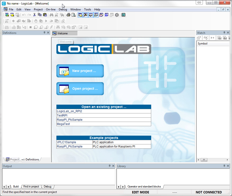 FleaPLC - Turn Raspberry to a IEC61131-3 PLC: LogicLab