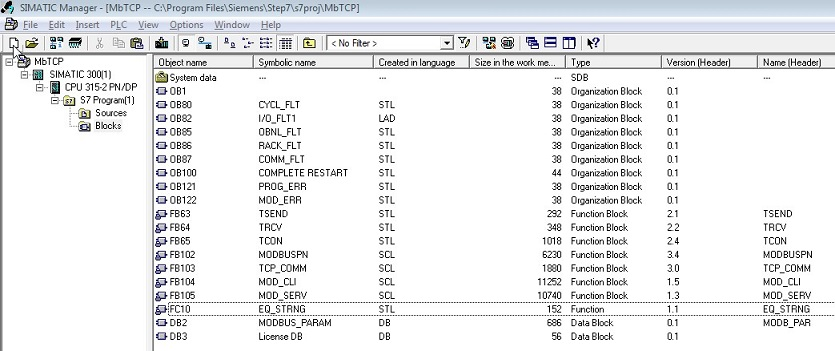 Simatic Open Modbus TCP tutorial
